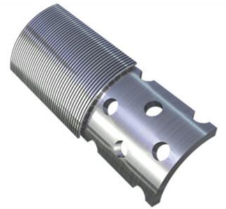 Пример плотной намотки нержавеющей проволоки на перфорированную трубу