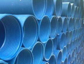 Пластиковые нПВХ трубы для обсадки скважины на резьбовом раструбном соединении