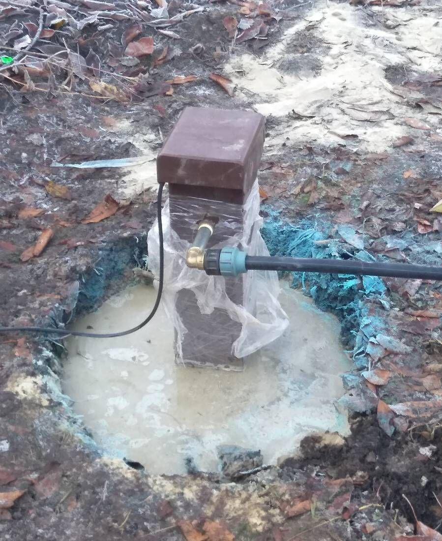 Установка надземного антивандального поливочного дачника